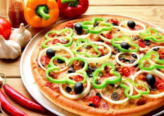 Шведский салат-пицца