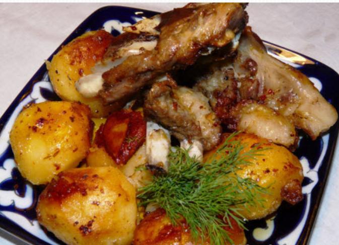 Чешский жаренный картофельный салат