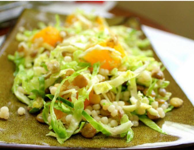 Картофельный салат с мятой и апельсинами