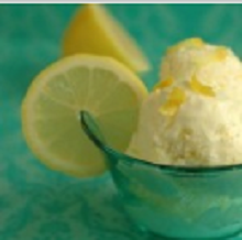 Лимонное мороженое с имбирём