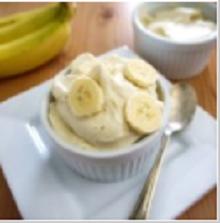 Бананово-сливочное мороженое