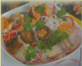 Горячий салат с запеченной морской рыбой