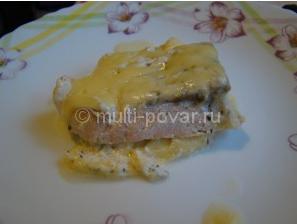 Рыба под сыром в мультиварке