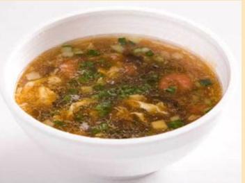 Суп с креветками и цветной капустой.