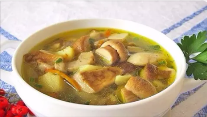 Грибной суп с картофелем